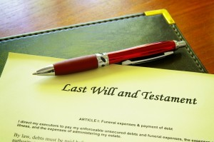 Last Will and testament document to prevent probate